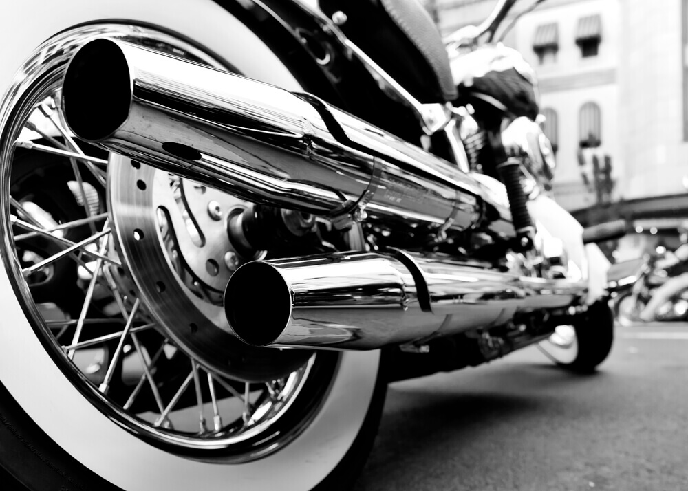 TFX-International-motorcycle-shipping: motorcycle exhaust pipe