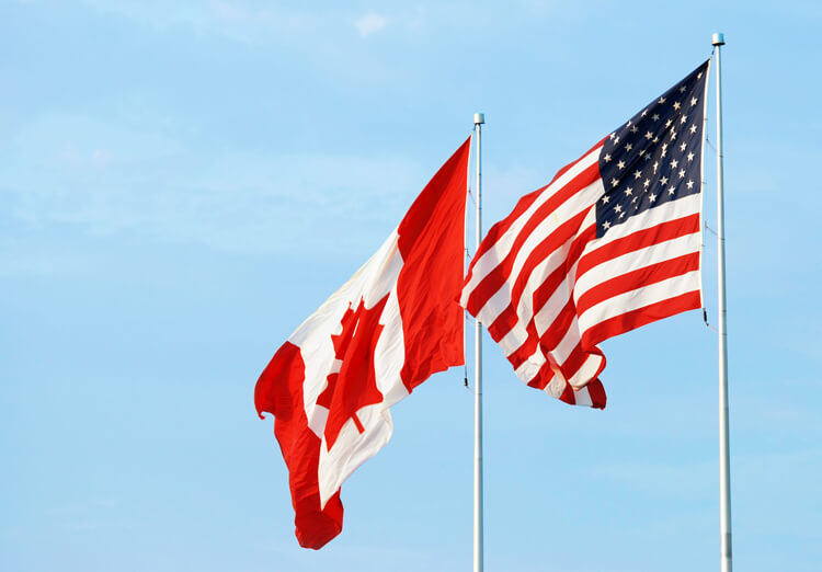Vehicle shipping in Canada and to the United States